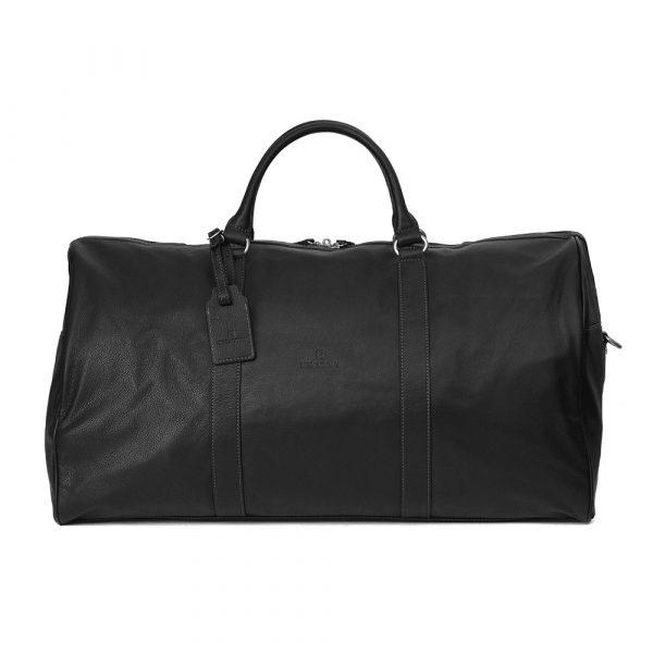 Pánská celokožená cestovní taška Hexagona Bolt – černá