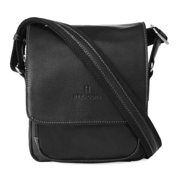 Pánská kožená taška na doklady Hexagona 463958 – černá