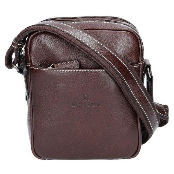 Pánská kožená taška přes rameno Hexagona 123477 – hnědá