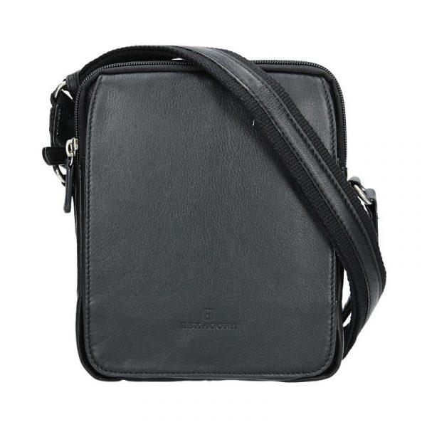 Pánská kožená taška na doklady Hexagona 463956 – černá