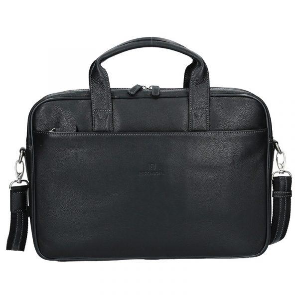 Pánská kožená taška přes rameno Hexagona Tango – černá
