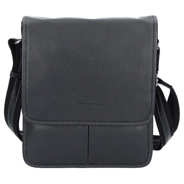 Pánská kožená taška na doklady Hexagona 469548 – černá