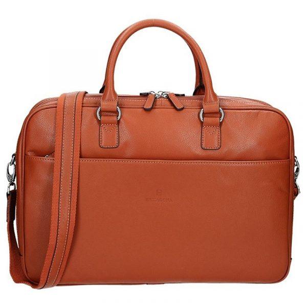 Pánská kožená taška přes rameno Hexagona Moon – oranžovo-hnědá