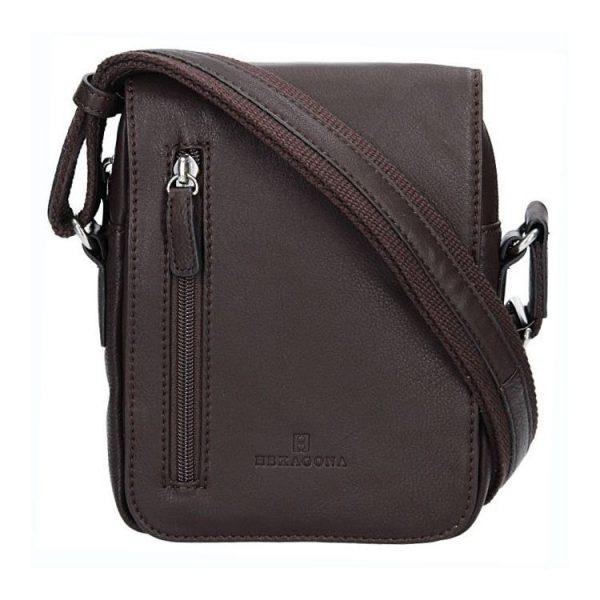 Pánská kožená taška na doklady Hexagona Derek – hnědá 0a74bd6d3c7