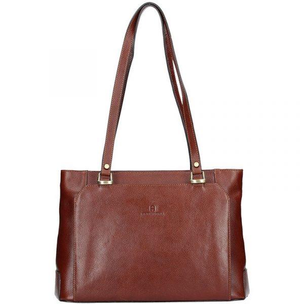 Luxusní kožená dámská kabelka Hexagona 111851A – hnědá