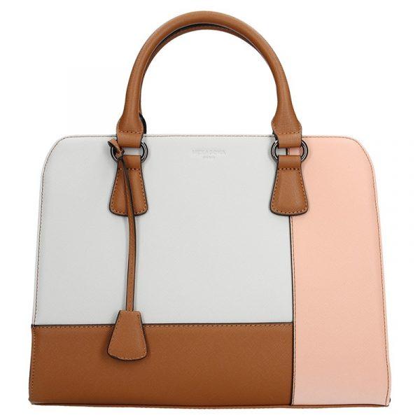 Dámská kabelka Hexagona 505235 – bílo-růžová