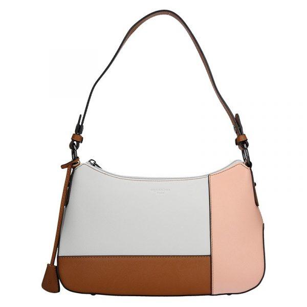 Dámská kabelka Hexagona 505236 – bílo-růžová
