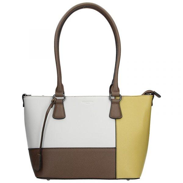 Dámská kabelka Hexagona 505242 – bílo-žlutá