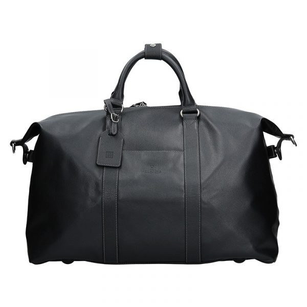 Pánská celokožená cestovní taška Hexagona 463134 – černá