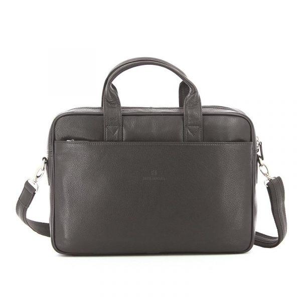 Pánská kožená taška přes rameno Hexagona Tango – tmavě hnědá