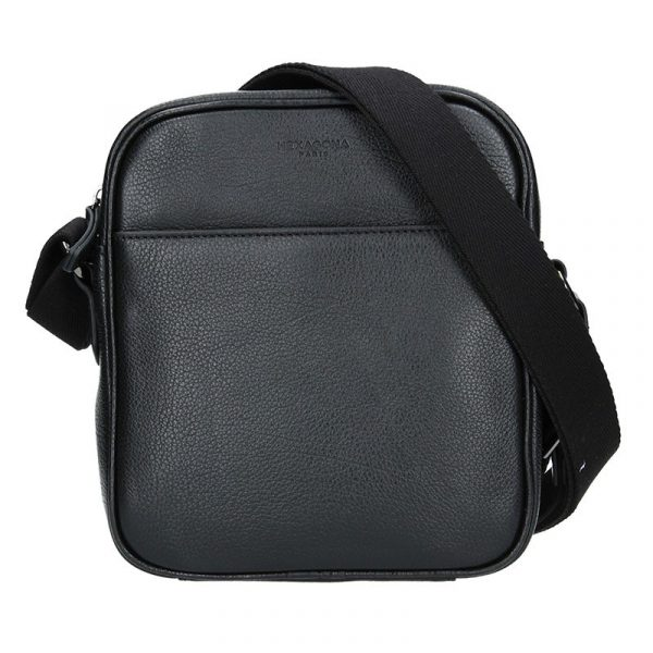 Pánská kožená taška přes rameno Hexagona Ermin – černá