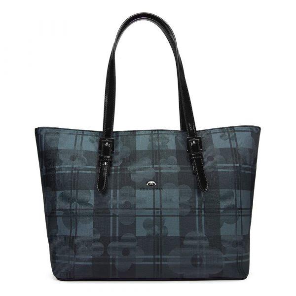 Dámská kabelka Hexagona Brenda – šedo-modrá