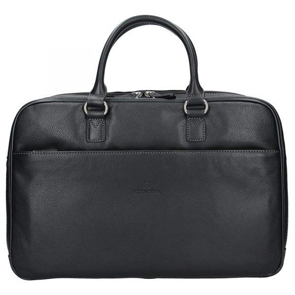 Pánská kožená taška přes rameno Hexagona Moon – černá