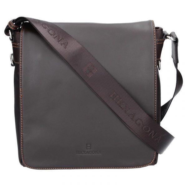 Pánská taška přes rameno Hexagona 299156 – hnědá