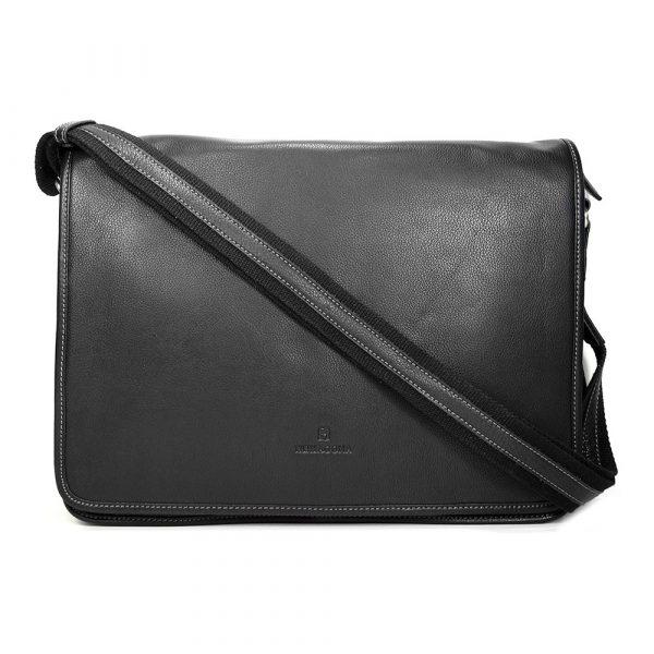 Pánská celokožená taška přes rameno Hexagona 462817 – černá