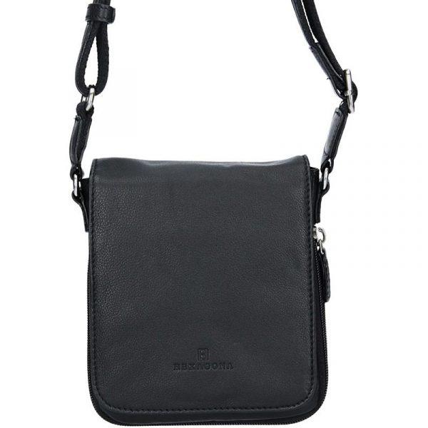Pánská kožená taška na doklady Hexagona Ernest – černá