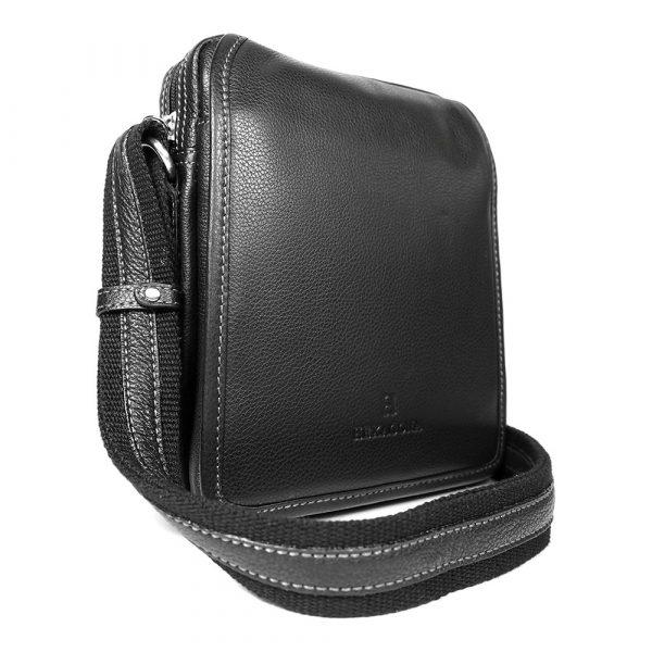 Pánská kožená taška přes rameno Hexagona 469565 – černá
