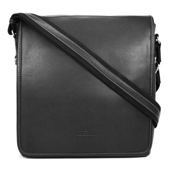 Pánská celokožená taška přes rameno Hexagona 469563 – černá
