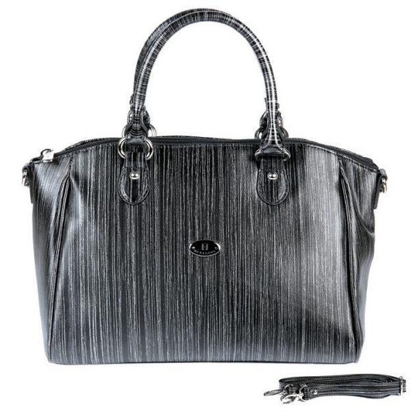 Dámská kabelka Hexagona 743966 – černo-šedá