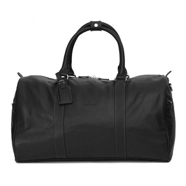 Pánská celokožená cestovní taška Hexagona Star – černá