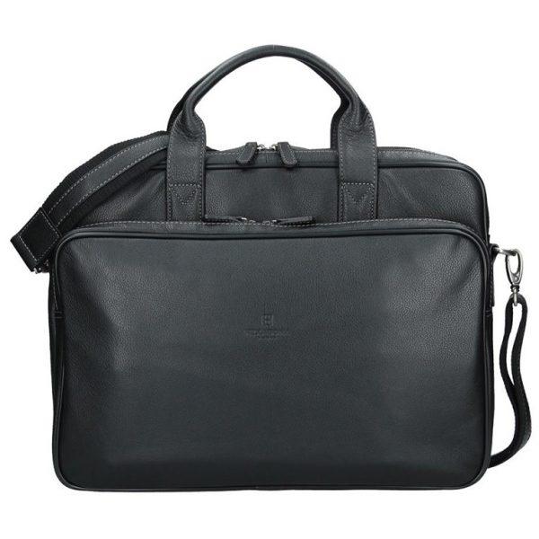 Pánská kožená taška přes rameno Hexagona 463086 – černá