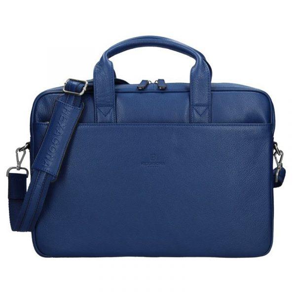 Pánská kožená taška přes rameno Hexagona Tango – modrá