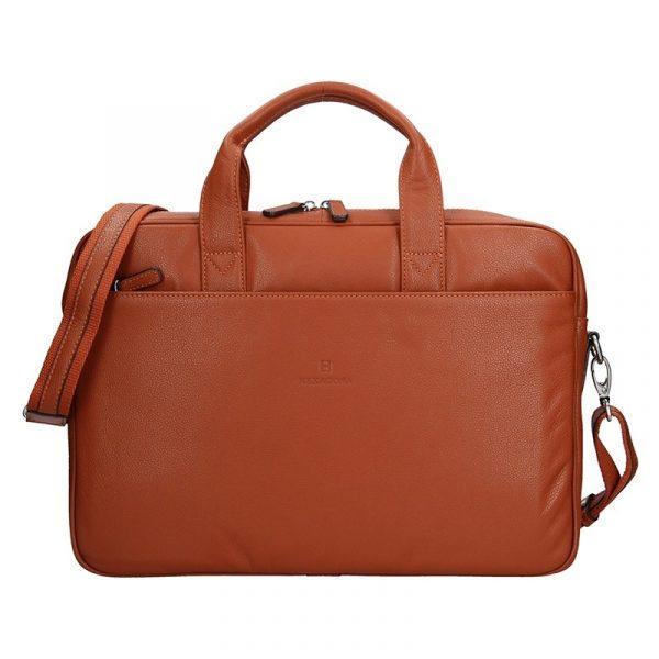 Pánská kožená taška přes rameno Hexagona Tango – oranžová