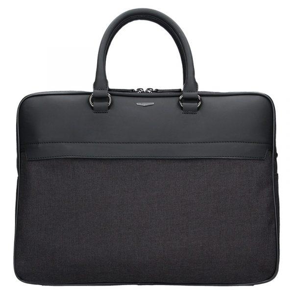Pánská business taška přes rameno Hexagona Toledo – černo-šedá