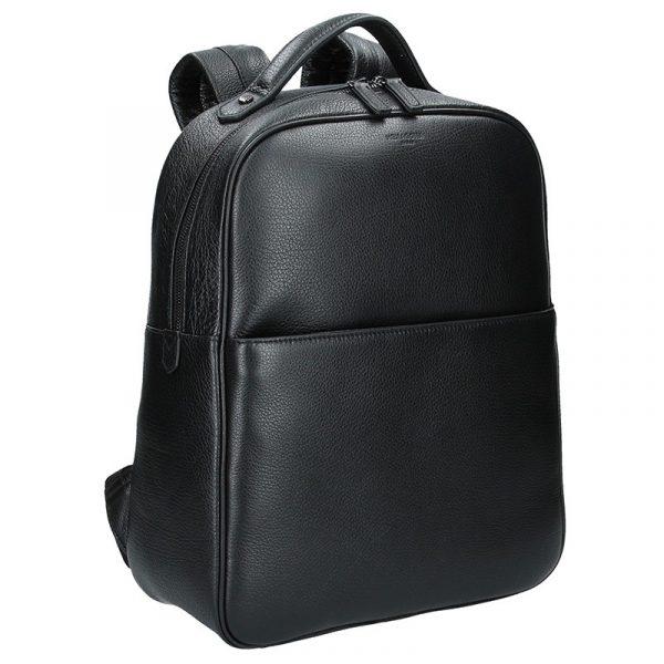 Pánský kožený batoh Hexagona Encore – černá