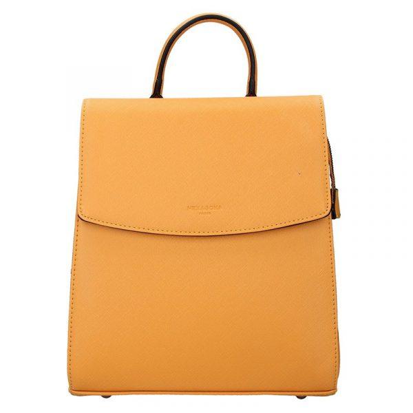 Elegantní dámský batoh Hexagona Erika – žlutá