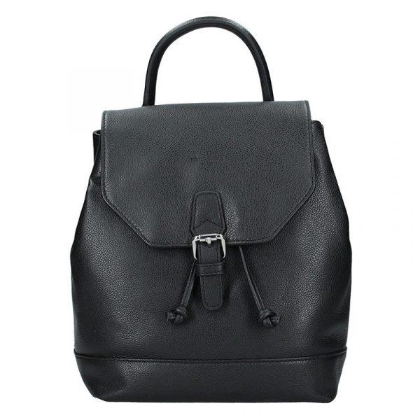 Elegantní kožený dámský batoh Hexagona Ghita – černá