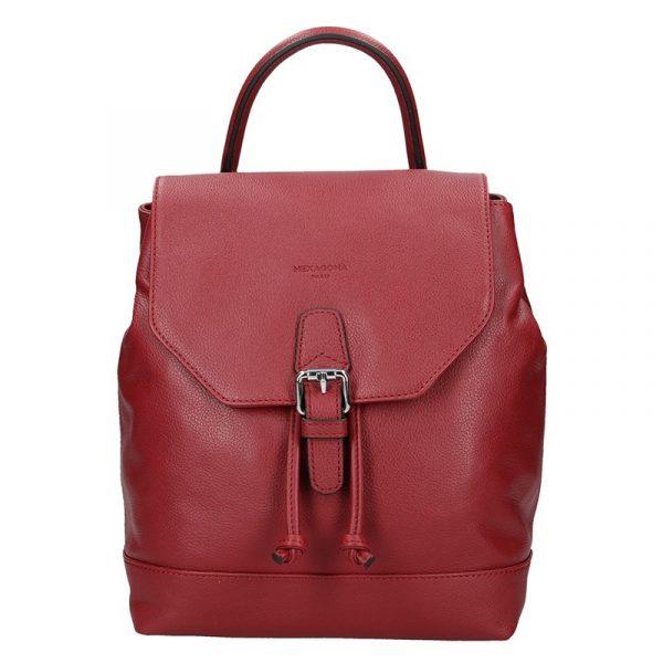 Elegantní kožený dámský batoh Hexagona Ghita – vínová
