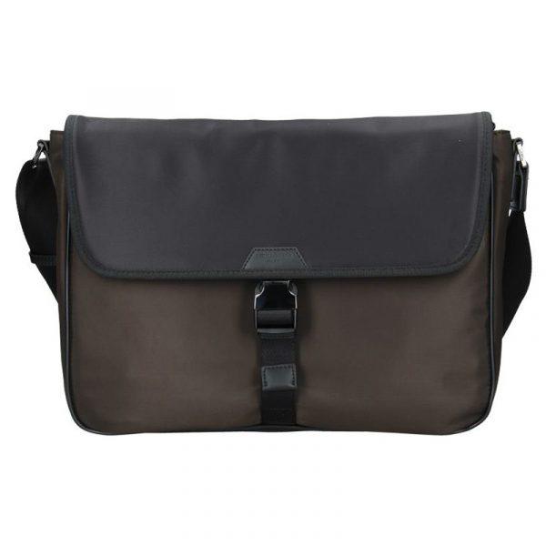 Pánská taška přes rameno Hexagona Quido – hnědo-černá