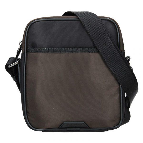 Pánská taška přes rameno Hexagona Moris – černo-hnědá