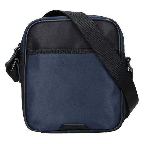 Pánská taška přes rameno Hexagona Moris – černo-modrá