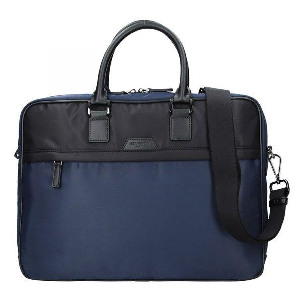 Pánská taška na notebook Hexagona Aarvold – modro-černá