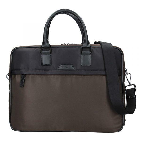 Pánská taška na notebook Hexagona Aarvold – hnědo-černá