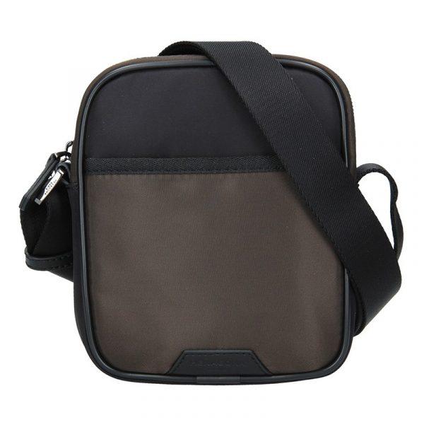 Pánská taška přes rameno Hexagona Bergh – černo-hnědá