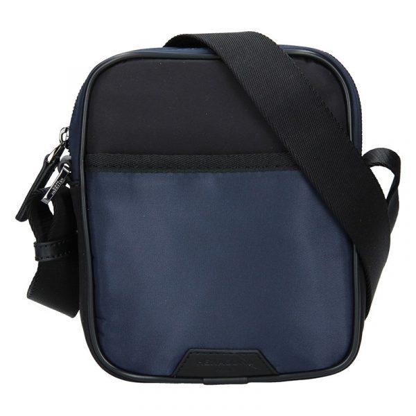 Pánská taška přes rameno Hexagona Bergh – černo-modrá