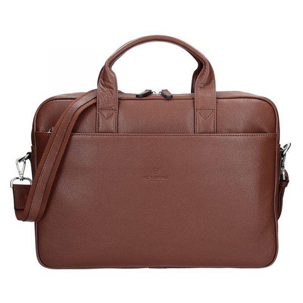 Pánská kožená taška přes rameno Hexagona Tango – hnědá