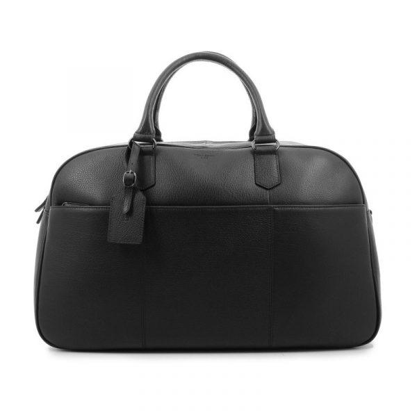 Elegantní kožená cestovní taška Hexagona Pierre – černá