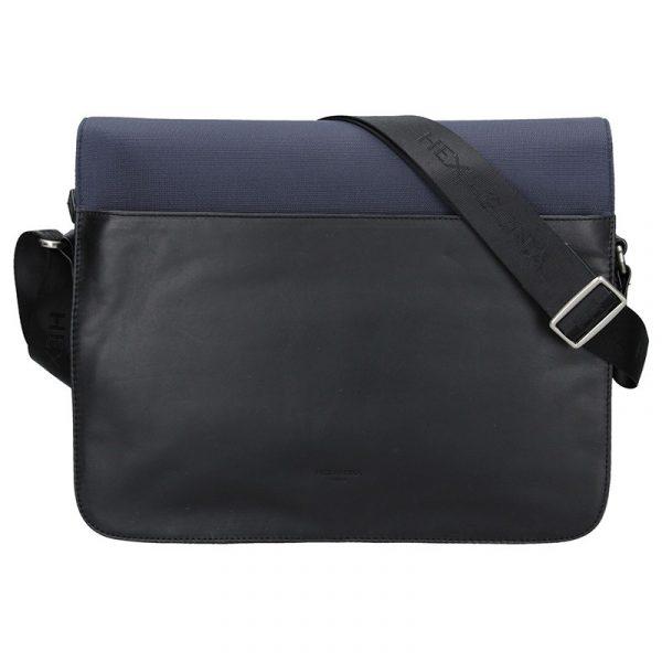 Pánská taška přes rameno Hexagona Reiss – černo-modrá