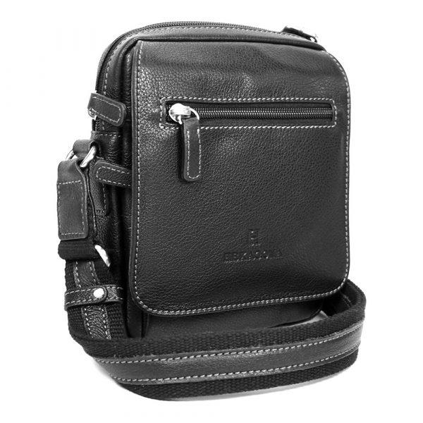 Pánská kožená taška na doklady Hexagona 463993 – černá