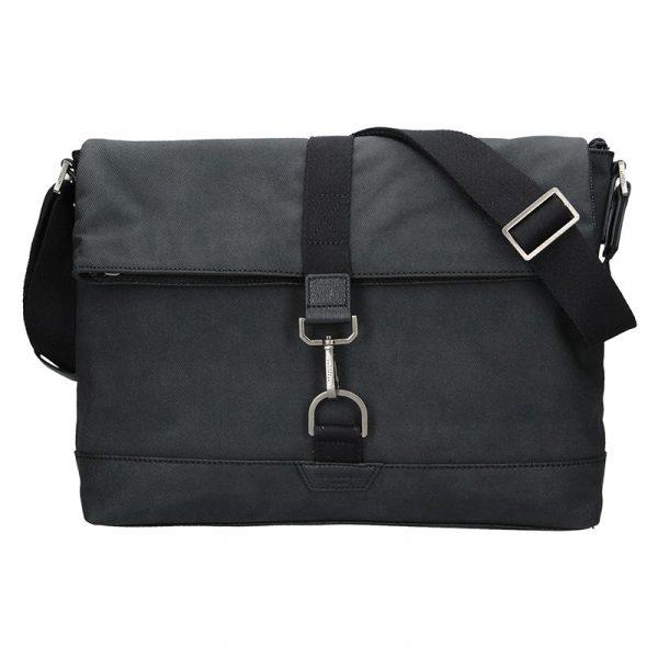 Pánská taška přes rameno Hexagona Lines – černá