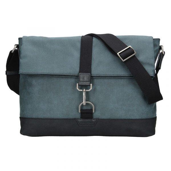 Pánská taška přes rameno Hexagona Lines – modrá