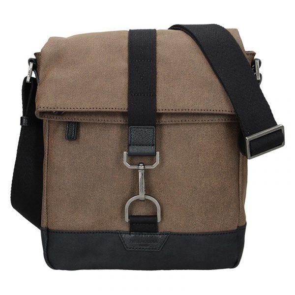 Pánská taška přes rameno Hexagona Folga – hnědá
