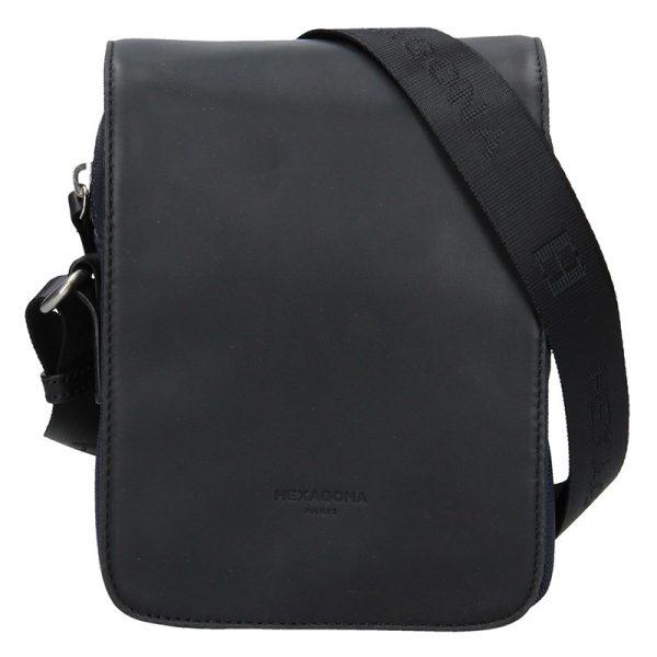 Pánská taška přes rameno Hexagona Renno – černo-modrá
