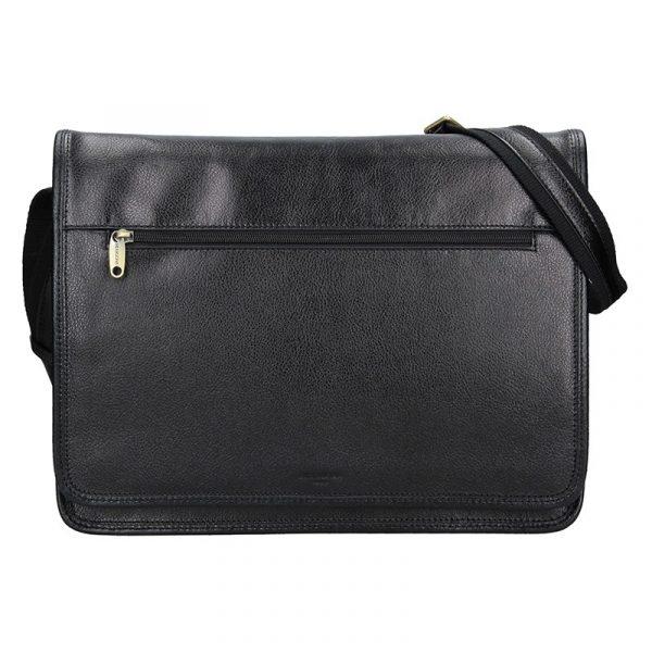 Pánská celokožená taška přes rameno Hexagona Remmy – černá
