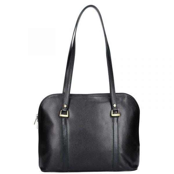 Dámská kožená kabelka Hexagona Vonela – černá