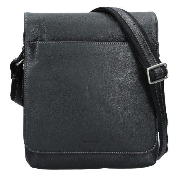 Pánská kožená taška přes rameno Hexagona Norbert – černá